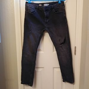 Topman stretch skinny distressed jeans